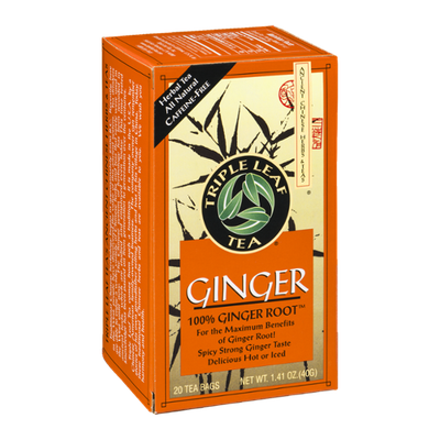 Triple Leaf Tea Ginger Tea - 20 CT