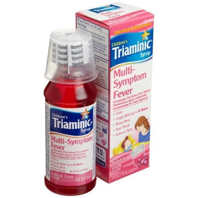 Triaminic Multi-Symptom Fever, Bubble Gum Flavor, 4-Ounce Syrups (Pack of 2)