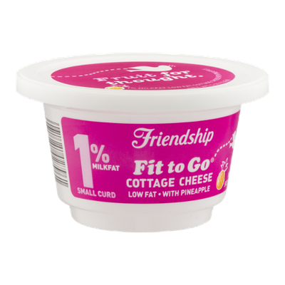 Friendship Fit to Go 1% Milkfat Cottage Cheese with Pineapple Small Curd