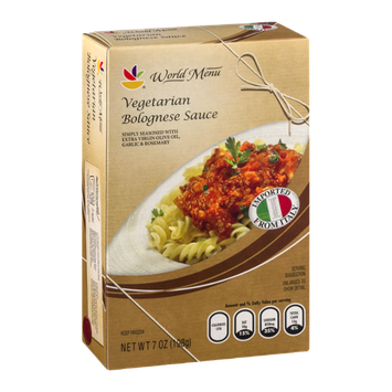 Ahold World Menu Vegetarian Bolognese Sauce