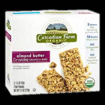 Cascadian Farm Organic Almond Butter Crunchy Granola Bars - 5 CT
