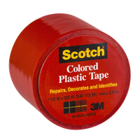 Scotch Red Colored Plastic Tape