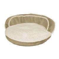 Dog Lounge Bolster Oval Pet Bed - 28