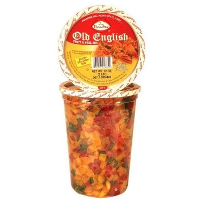 Paradise Old English Fruit and Peel Mix, 32 Ounce Tubs (Pack of 3)