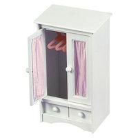 Badger Basket Doll Armoire w/Three Hangers - White