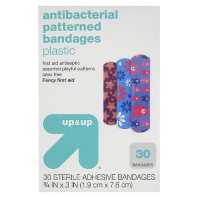 up & up up&up Antibacterial Fancy Patterned Bandages - 30 Count