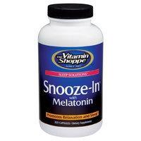 The Vitamin Shoppe  SNOOZE-IN WITH MELATONIN