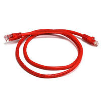 Monoprice 3FT 24AWG Cat6 550MHz UTP Bare Copper Ethernet Network Cable - Red