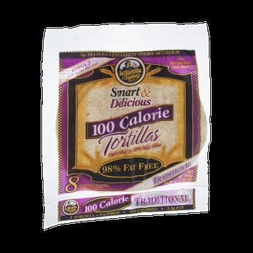 La Tortilla Factory Smart & Delicious 100 Calorie Traditional Tortillas - 8 CT