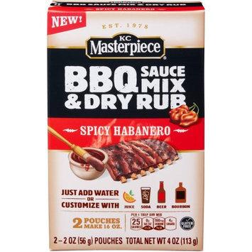 KC Masterpiece Spicy Habanero BBQ Sauce Mix & Dry Rub, 2 oz, 2 count