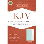 KJV Large Print Compact Bible, Mint Green LeatherTouch
