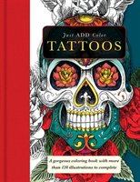 Tattoo: Gorgeous coloring books with more than 120 illustrations to complete