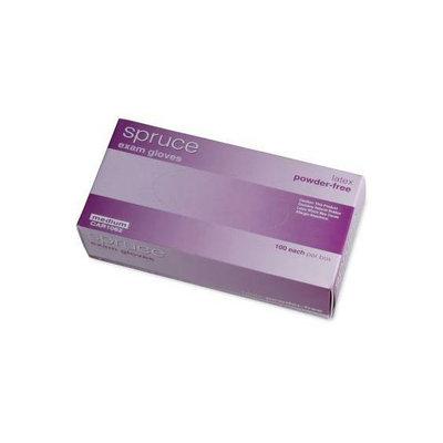 Medline Spruce NonSterile PowderFree Latex Exam Gloves
