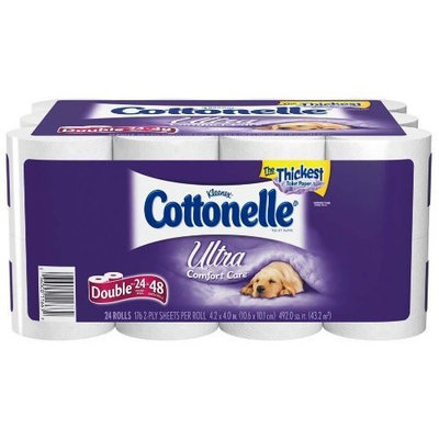 Cottonelle Ultra Double Roll, (2X Regular), 2 Ply, White