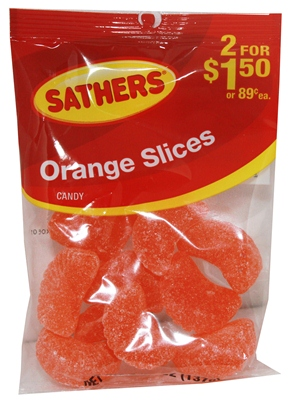 Sathers Orange Slices Candy