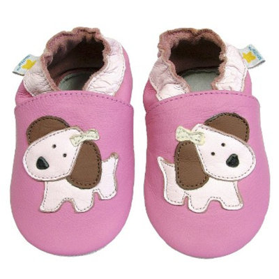 Ministar Designs by Bobux Infant Girls' Puppy Shoe - Rose/Pink 12-18M