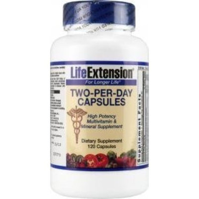 Life Extension Two-Per-Day Capsules 120 Count
