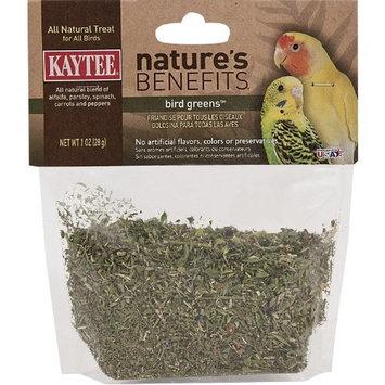 Kaytee Natures Benefits Bird Greens for All Birds, 1-Ounce Bag