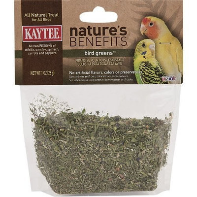 Kaytee Natures Benefits Bird Greens for All Birds, 1-Ounce Bag
