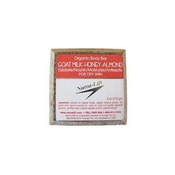 Nutra-Lift 676896000419 Organic Body Bar Goat Milk-Honey-Almond