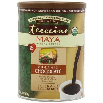 Teeccino Caffeine Free Herbal Coffee, Espresso Grind, Maya Chocolate, 16-Ounce
