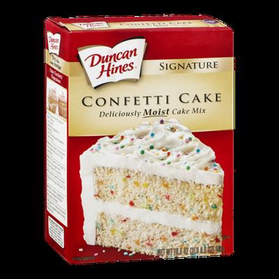 Duncan Hines Signature Cake Mix Confetti Cake