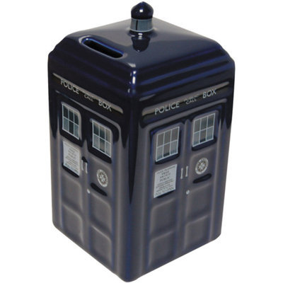 Doctor Who TARDIS Ceramic Money Bank Ages 5+, 1 ea