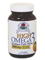Ayush Herbs High Omega 3 1000 mg 60 gels