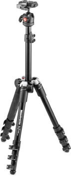 Manfrotto Befree One Aluminum Ultra-Compact and Lightweight Tripod with Ball Head, 5.8lbs Capacity, Black