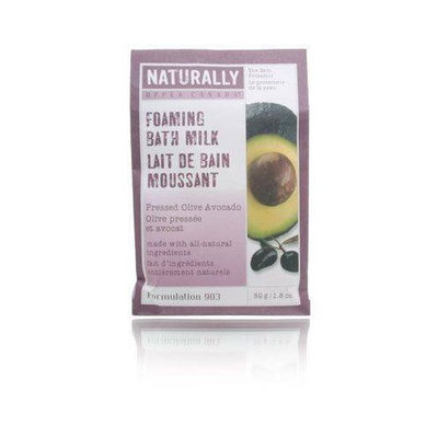 Upper Canada Soap Naturally Foaming Bath Milk-Pressed Olive Avocado-1.8, oz.