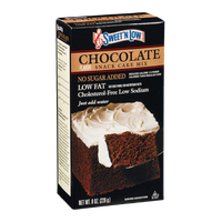 Sweet 'N Low Chocolate Snack Cake Mix Low Fat