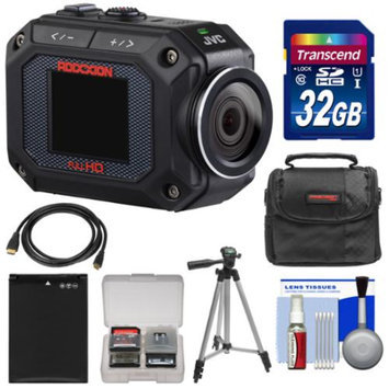 JVC GC-XA2 Adixxion Quad Proof Full HD Wi-Fi Digital Video Action Camera Camcorder with 32GB Card + Battery + Case + Tripod + Kit