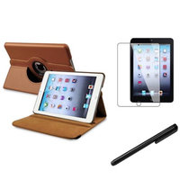 Insten iPad Mini 3/2/1 Case, by INSTEN For Apple iPad Mini 3rd 3 2nd 1 1st Gen Rotating PU Leather Case Cover Stand Brown