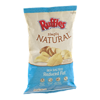 Ruffles Simply Natural Sea Salted Reduced Fat Potato Chips