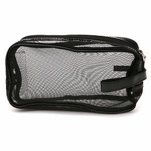 Mommy Makeup Black Mesh Makeup Bag
