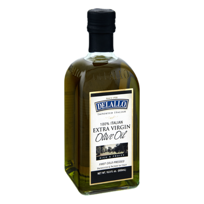 Delallo Imported Rich & Fruity 100% Italian Extra Virgin Olive Oil