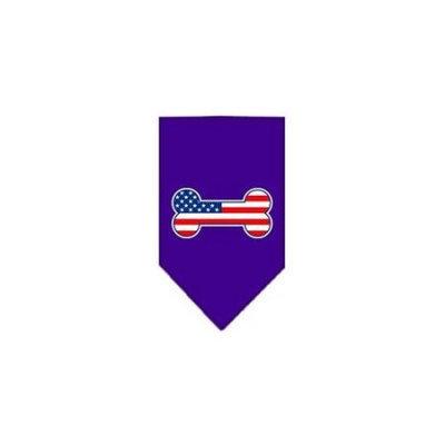 Ahi Bone Flag American Screen Print Bandana Purple Small