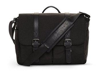 Ona The Nylon Brixton Camera and Laptop Messenger Bag, Black