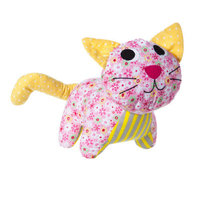 Blossom and Buds Kitten Patterned Cotton Plush