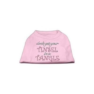 Mirage Pet Products Tinsel in a Tangle Rhinestone Dog Shirt Light Pink Lg (14)