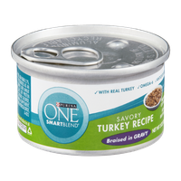 Purina One Smartblend Savory Turkey Recipe Braised in Gravy