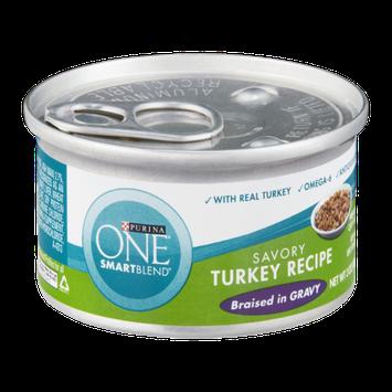 PURINA ONE® Smartblend Savory Turkey Recipe Braised in Gravy