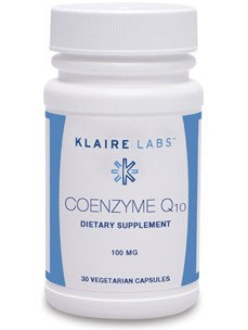 Klaire Labs, Coenzyme Q10 30 Vegetarian Capsules