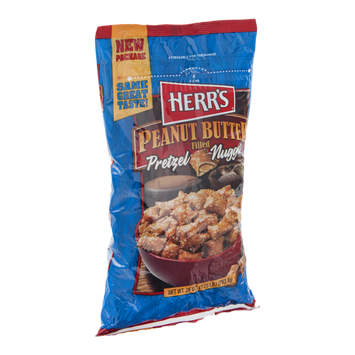 Herr's Pretzel Nuggets Peanut Butter Filled