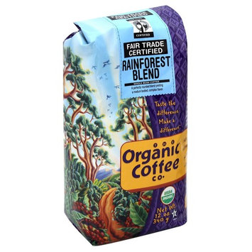 The Organic Coffee Co. Coffee, Whole Bean, Rainforest Blend - 12 oz