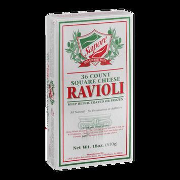 Sapore Fine Gourmet Pasta Square Cheese Ravioli - 36 CT