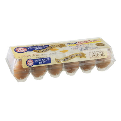 Eggland's Best Cage Free Eggs Brown Grade A Large - 12 CT