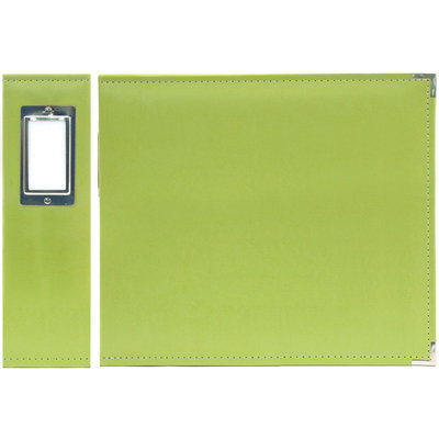 Hiller Industries We R Memory Keepers We R Faux Leather 6 Inch x 6 Inch 3 Ring Binder, Kiwi - HILLER INDUSTRIES