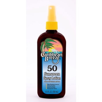 Caribbean Breeze-SPF 50 Sunscreen Spray Lotion, 8.5 oz (250 ml)