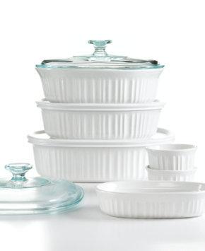 Corningware French White Bakeware, 10 Piece Set